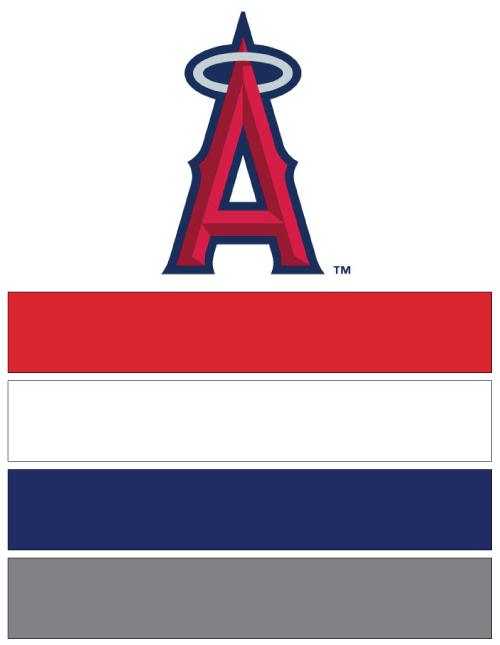 Los Angeles Angels Baseball Nail Art Ideas Amp Designs Spirit Wear Nail Wraps