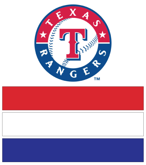 Texas Rangers Team Colors Red White Royal Blue