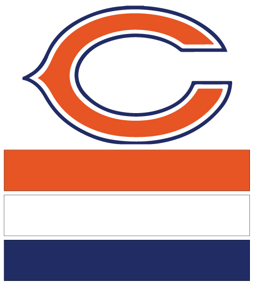 Chicago Bears Football Nail Art Ideas Amp Designs Spirit Wear Nail Wraps