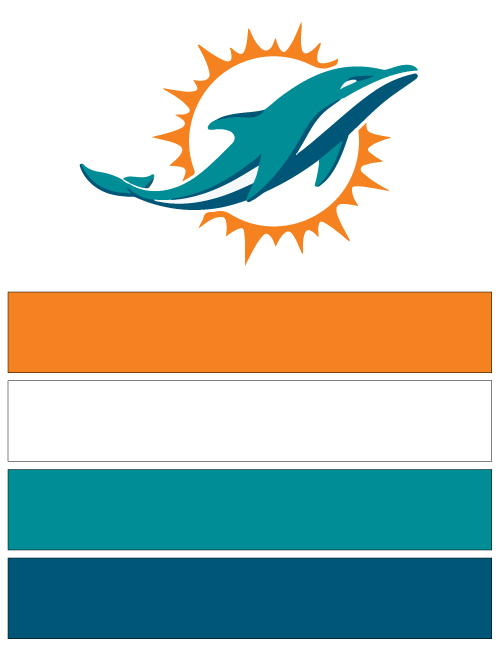 Miami Dolphins Football Nail Art Ideas Designs Spirit Wear Nail
