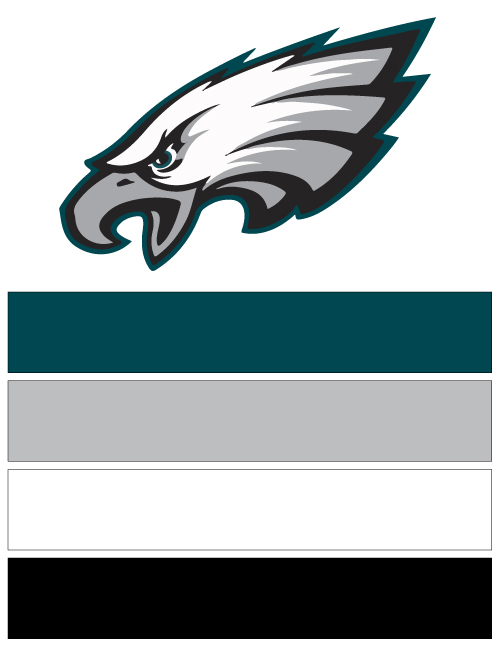 Philadelphia Eagles Football Nail Art Ideas & Designs | Spirit Wear ...