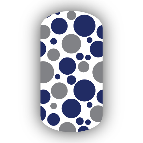white navy blue amp dark gray bubbles nail wraps