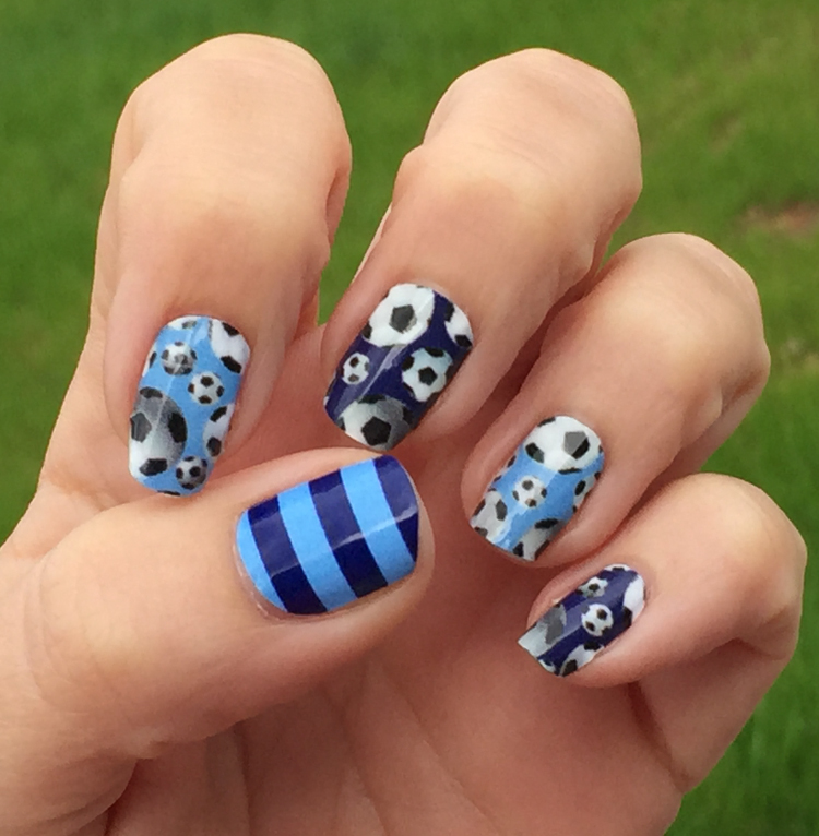 New York City FC Soccer Nails ... - Soccer Nail Art Designs Spirit Wear Nail Wraps