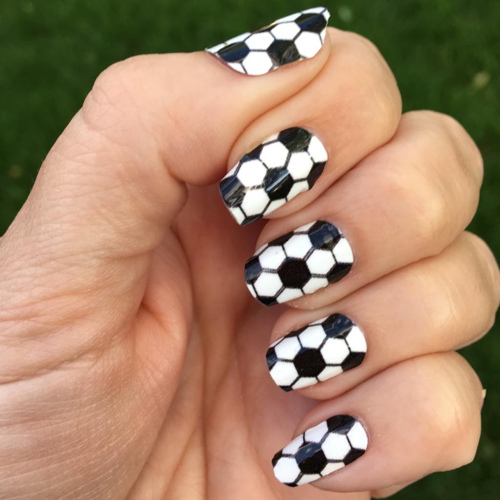 Nail designs with little balls : Soccer nail art designs spirit wear wraps