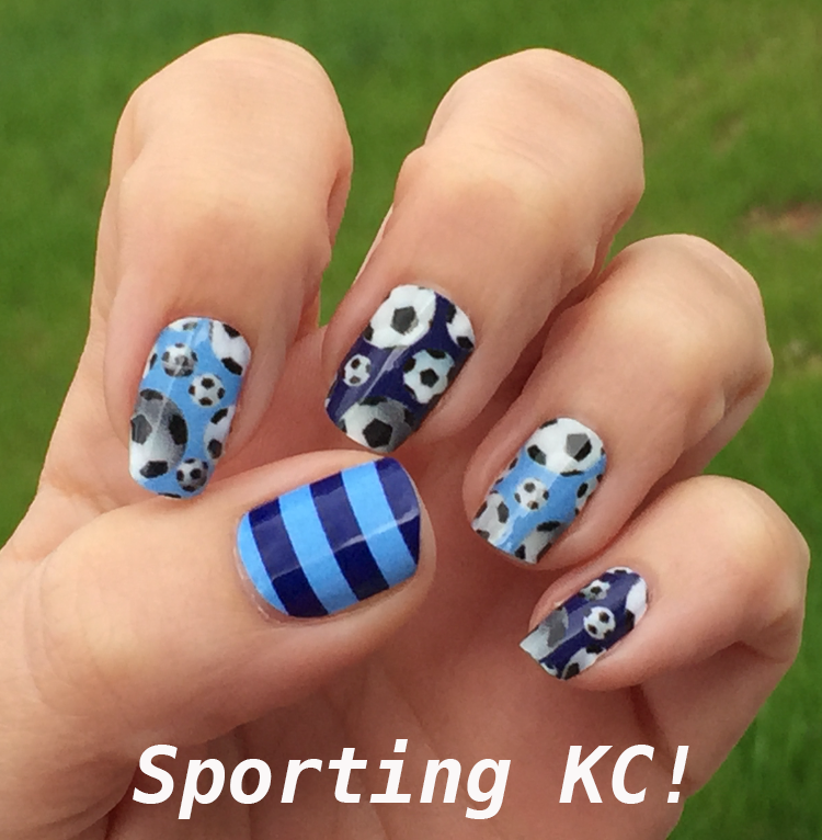 Sporting Kansas City Soccer Nail Art Ideas & Designs | Spirit Wear ...