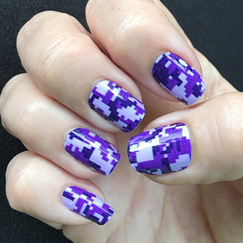 Purple digital camouflage nail wraps purple digi camo nail art prinsesfo Gallery