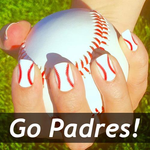 San Diego Padres Baseball Nail Art Designs