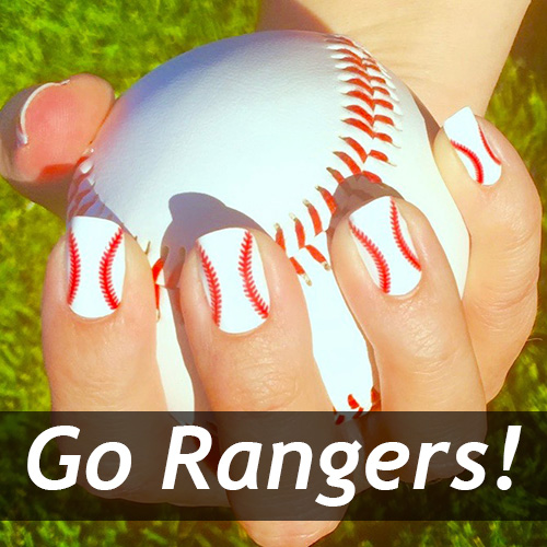 Texas Rangers Baseball Nails