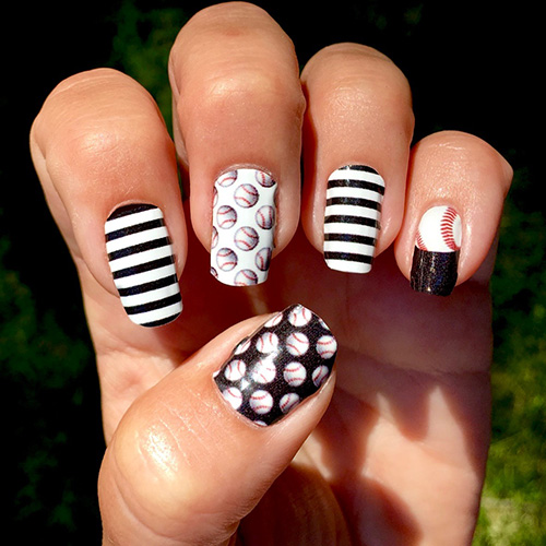 Baltimore orioles baseball nail art ideas designs spirit wear easy to apply and looks great on short or long nails all of our designs are made to mix match wear your favorite mlb team colors and represent baltimore prinsesfo Gallery