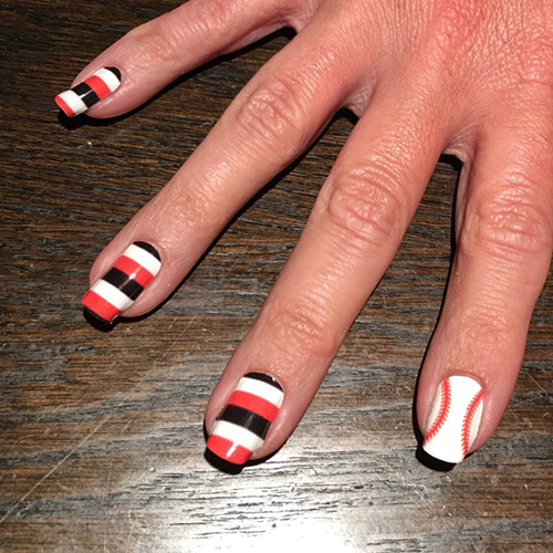 ... San Francisco Giants Baseball Stitching Nail Art Design ... - San Francisco Giants Baseball Nail Art Designs