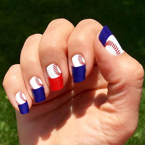 Boston red sox baseball nail art ideas designs spirit wear baseball nails prinsesfo Gallery