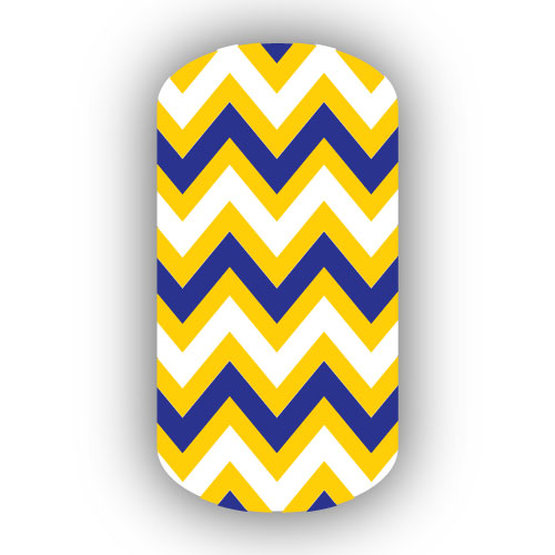Royal Blue And Yellow Chevron