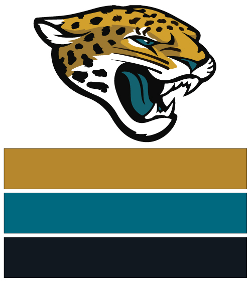 Image result for jacksonville jaguars team colors