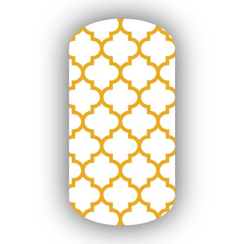 White Mustard Moroccan Tile Nail Wraps