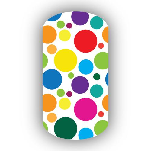 Piggieluv Rainbow Bubbles Nail Art: Rainbow Bubbles Nail Wraps