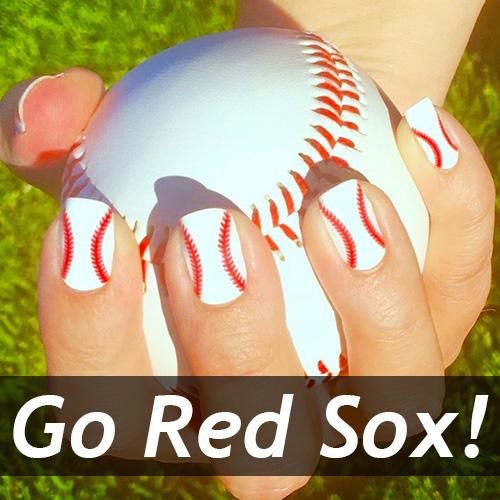 Red Sox Baseball Nails