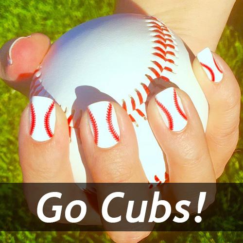Chicago Cubs Baseball Nail Art Ideas Designs Spirit Wear Nail Wraps