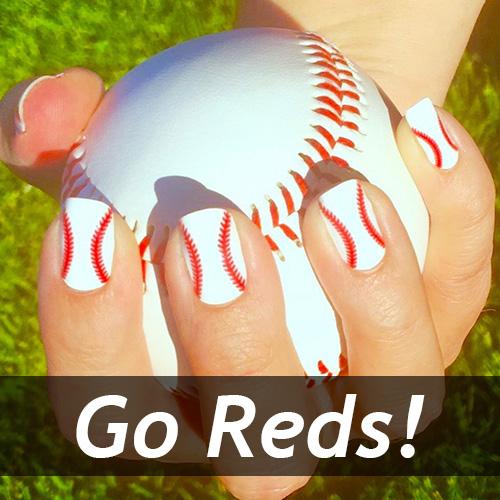 Cincinnati Reds Baseball Nails