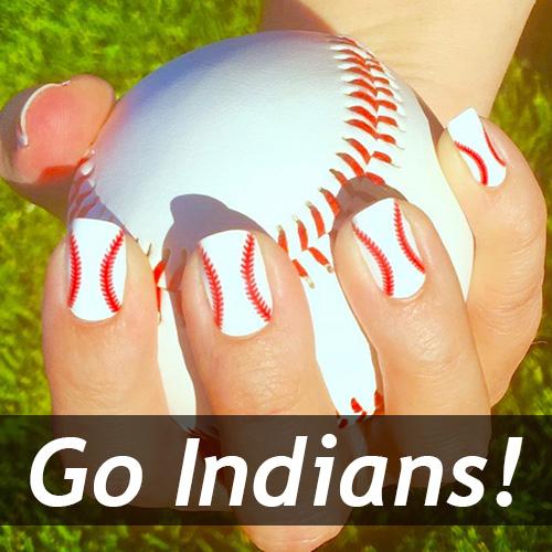 Cleveland Indians Baseball Nail Art Ideas Designs Spirit Wear
