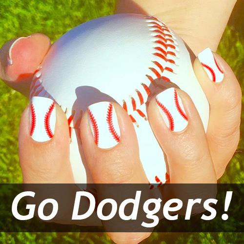 Los Angeles Dodgers Baseball Nail Art Ideas Designs Spirit Wear