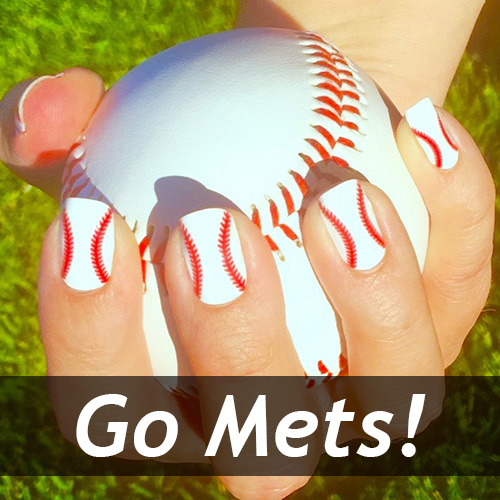 New York Mets Baseball Nail Art Ideas Designs Spirit Wear Nail Wraps