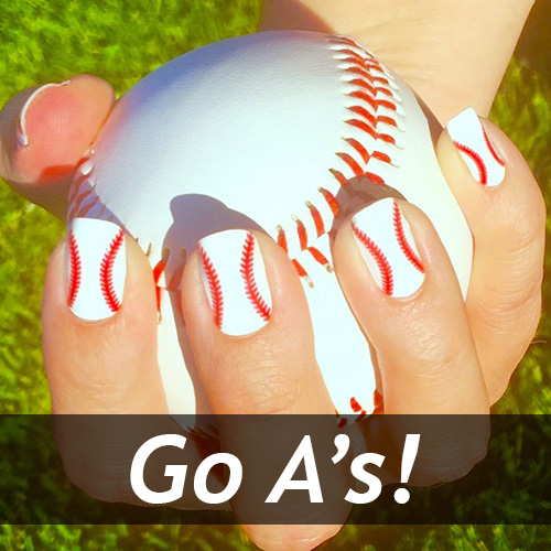 Oakland A S Baseball Sching Nail Stickers