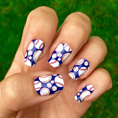 Detroit Tigers Baseball Nails