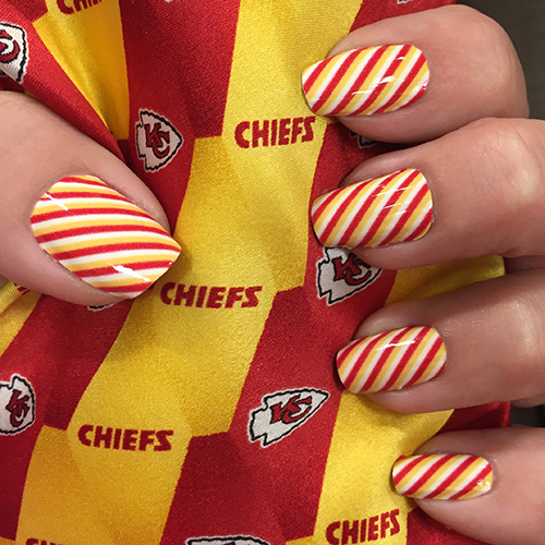 Kansas City Chiefs Football Nail Art Ideas Designs Spirit Wear